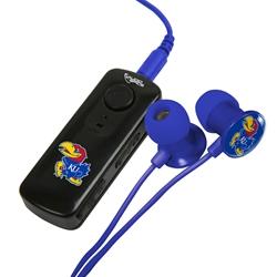 Kansas Jayhawks HR-100 Bluetooth® Receiver with BudBag & Earbuds