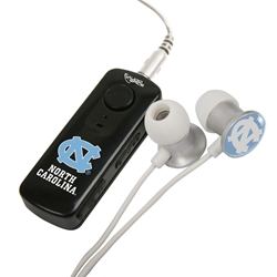 North Carolina Tar Heels HR-100 Bluetooth® Receiver with BudBag & Earbuds