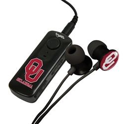 Oklahoma Sooners HR-100 Bluetooth® Receiver with BudBag & Earbuds