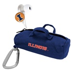 Illinois Fighting Illini Scorch Earbuds with BudBag