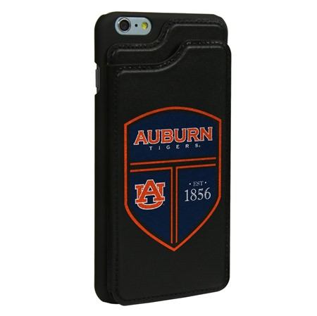 Auburn Tigers Guard Dog® Genuine Leather Wallet Case for iPhone 6 Plus / 6s Plus with Guard Glass Screen Protector