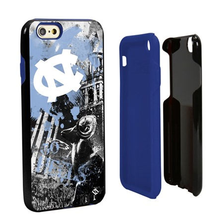 Guard Dog North Carolina Tar Heels PD Spirit Hybrid Phone Case for iPhone 6 / 6s with Guard Glass Screen Protector
