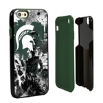 Guard Dog Michigan State Spartans PD Spirit Hybrid Phone Case for iPhone 6 / 6s with Guard Glass Screen Protector