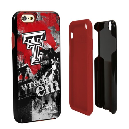 Guard Dog Texas Tech Red Raiders PD Spirit Hybrid Phone Case for iPhone 6 / 6s with Guard Glass Screen Protector