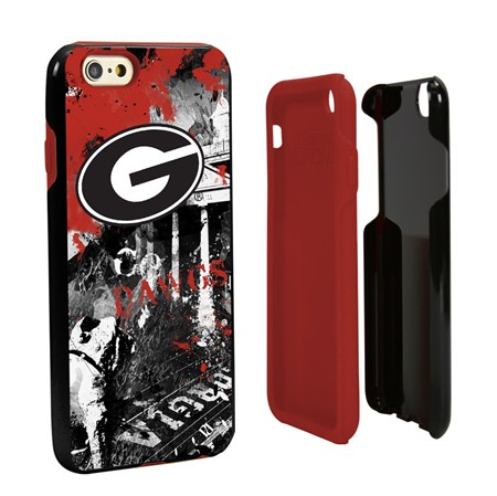 Guard Dog Georgia Bulldogs PD Spirit Hybrid Phone Case for iPhone 6 / 6s with Guard Glass Screen Protector