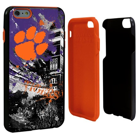 Clemson Tigers PD Spirit Hybrid Case for iPhone 6 Plus / 6s Plus with Guard Glass Screen Protector
