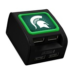 Michigan State Spartans WP-400X 4-Port USB Wall Charger
