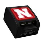 Nebraska Cornhuskers WP-400X 4-Port USB Wall Charger
