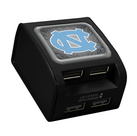 North Carolina Tar Heels WP-400X 4-Port USB Wall Charger