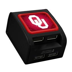 Oklahoma Sooners WP-400X 4-Port USB Wall Charger