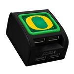 Oregon Ducks WP-400X 4-Port USB Wall Charger