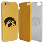 Guard Dog Iowa Hawkeyes Clear Hybrid Phone Case for iPhone 6 Plus / 6s Plus with Guard Glass Screen Protector