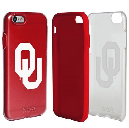 Guard Dog Oklahoma Sooners Clear Hybrid Phone Case for iPhone 6 / 6s with Guard Glass Screen Protector
