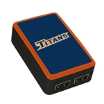Cal State Fullerton Titans WP-200X Classic Dual-Port USB Wall Charger