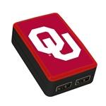 Oklahoma Sooners WP-200X Classic Dual-Port USB Wall Charger