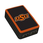 Oklahoma State Cowboys WP-200X Classic Dual-Port USB Wall Charger