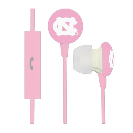 North Carolina Tar Heels Pink Ignition Earbuds + Mic
