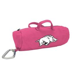 Arkansas Razorbacks Pink Medium StuffleBag