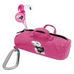 Kansas Jayhawks Pink Scorch Earbuds with BudBag