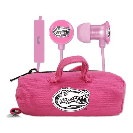 Florida Gators Pink Scorch Earbuds + Mic with BudBag