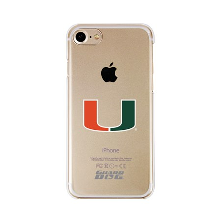 Guard Dog U Miami Hurricanes Clear Phone Case for iPhone 7/8