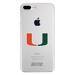Guard Dog U Miami Hurricanes Clear Phone Case for iPhone 7 Plus/8 Plus