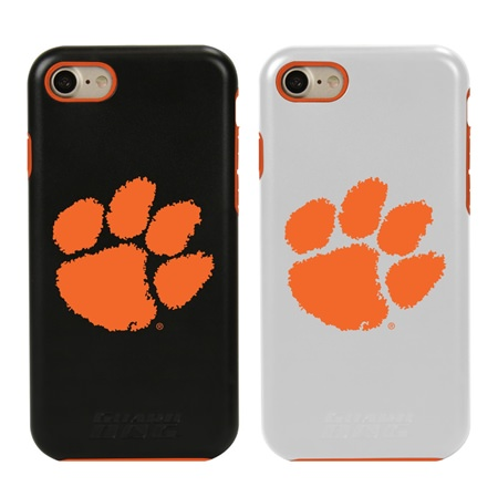 Guard Dog Clemson Tigers Hybrid Phone Case for iPhone 7/8 with Guard Glass Screen Protector