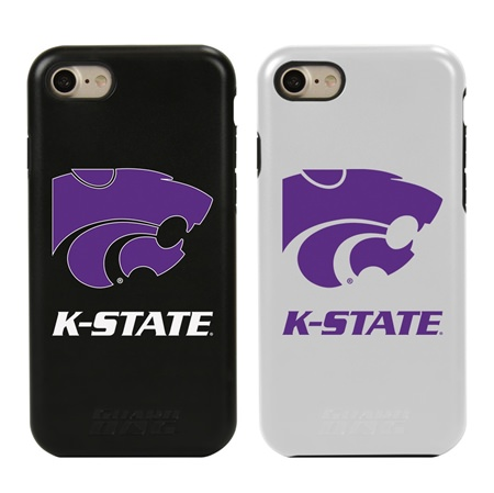 Guard Dog Kansas State Wildcats Hybrid Phone Case for iPhone 7/8 with Guard Glass Screen Protector