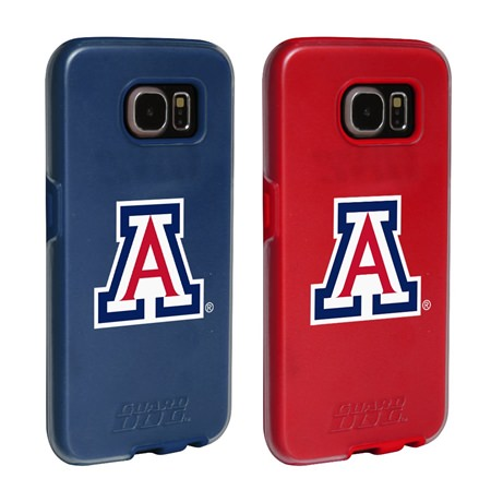 Arizona Wildcats Fan Pack (2 Cases)  for Samsung Galaxy S7 with Guard Glass Screen Protector