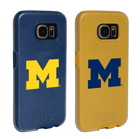 Michigan Wolverines Fan Pack (2 Cases)  for Samsung Galaxy S7 with Guard Glass Screen Protector