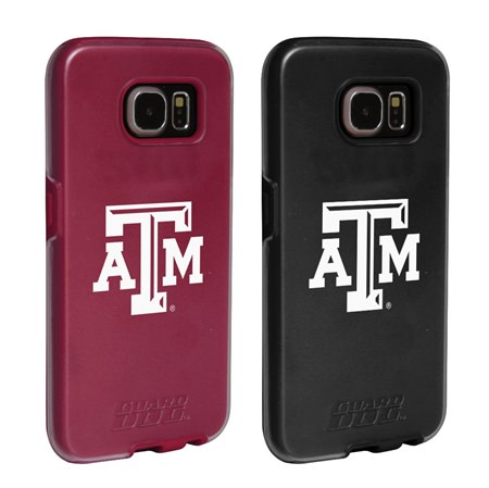 Texas A&M Aggies Fan Pack (2 Cases)  for Samsung Galaxy S7 with Guard Glass Screen Protector