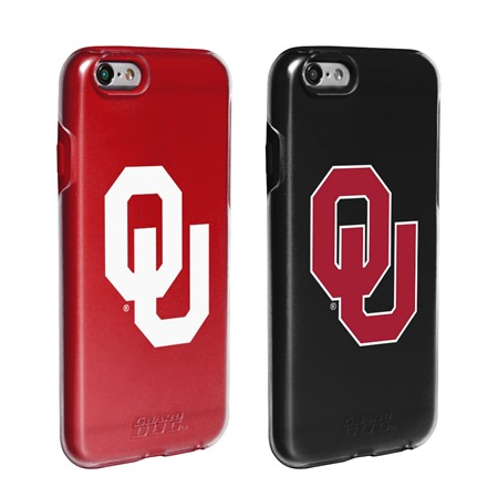 Guard Dog Oklahoma Sooners Fan Pack (2 Phone Cases) for iPhone 6 / 6s with Guard Glass Screen Protector