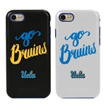 UCLA Bruins - Go Bruins Hybrid Case for iPhone 7/8 with Guard Glass Screen Protector