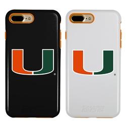 Guard Dog U Miami Hurricanes Hybrid Phone Case for iPhone 7 Plus/8 Plus