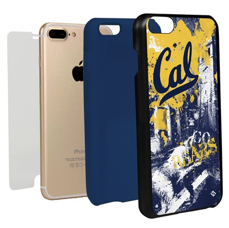 Guard Dog Cal Berkeley Golden Bears PD Spirit Hybrid Phone Case for iPhone 7 Plus/8 Plus with Guard Glass Screen Protector