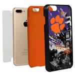 Guard Dog Clemson Tigers PD Spirit Hybrid Phone Case for iPhone 7 Plus/8 Plus with Guard Glass Screen Protector