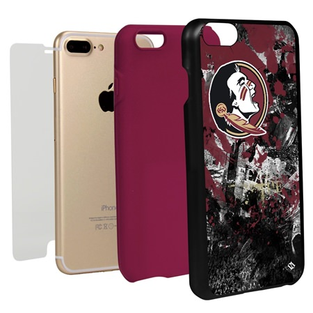 Guard Dog Florida State Seminoles PD Spirit Hybrid Phone Case for iPhone 7 Plus/8 Plus with Guard Glass Screen Protector