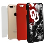 Guard Dog Oklahoma Sooners PD Spirit Hybrid Phone Case for iPhone 7 Plus/8 Plus with Guard Glass Screen Protector