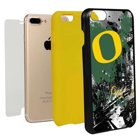 Guard Dog Oregon Ducks PD Spirit Hybrid Phone Case for iPhone 7 Plus/8 Plus with Guard Glass Screen Protector