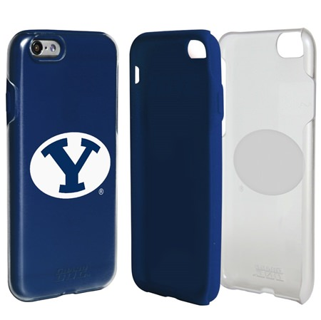BYU Cougars Clear Hybrid Case for iPhone 7/8 with Guard Glass Screen Protector