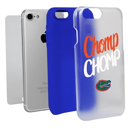 Florida Gators Chomp Chomp Clear Hybrid Case for iPhone 7/8 with Guard Glass Screen Protector