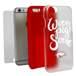 Guard Dog Arkansas Razorbacks Wooo Pig Sooie Clear Hybrid Phone Case for iPhone 6 Plus / 6s Plus
