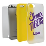 Guard Dog LSU Tigers Geaux Tigers Clear Hybrid Phone Case for iPhone 6 / 6s with Guard Glass Screen Protector