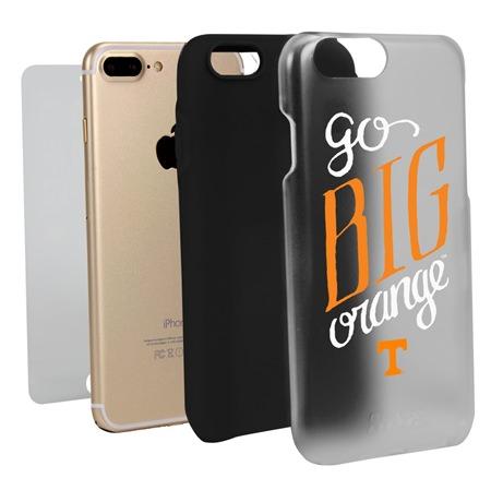 Guard Dog Tennessee Volunteers Go Big Orange Clear Hybrid Phone Case for iPhone 7 Plus/8 Plus