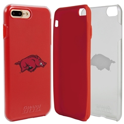 Guard Dog Arkansas Razorbacks Clear Hybrid Phone Case for iPhone 7 Plus/8 Plus