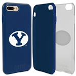 Guard Dog BYU Cougars Clear Hybrid Phone Case for iPhone 7 Plus/8 Plus with Guard Glass Screen Protector