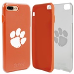 Guard Dog Clemson Tigers Clear Hybrid Phone Case for iPhone 7 Plus/8 Plus with Guard Glass Screen Protector