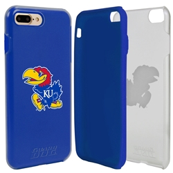 Guard Dog Kansas Jayhawks Clear Hybrid Phone Case for iPhone 7 Plus/8 Plus