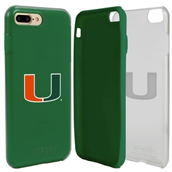 Guard Dog U Miami Hurricanes Clear Hybrid Phone Case for iPhone 7 Plus/8 Plus