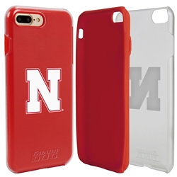 Guard Dog Nebraska Cornhuskers Clear Hybrid Phone Case for iPhone 7 Plus/8 Plus